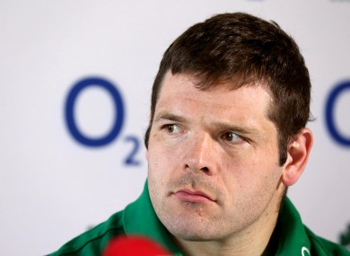 Mike Ross looking less than enthused at Ireland's press briefing.