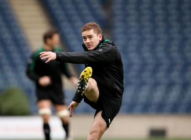 Paddy Jackson must be hoping for a simple penalty effort first up.