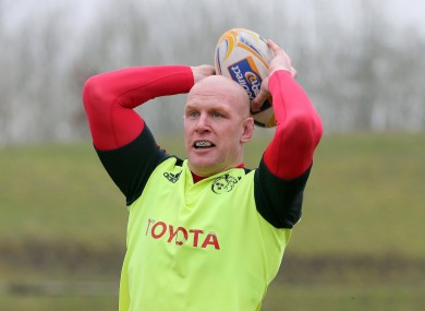 Paul O'Connell is back training with the senior squad.
