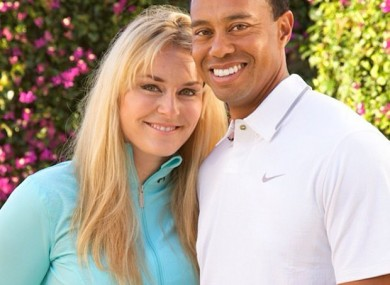 Power couple: Vonn and Woods.