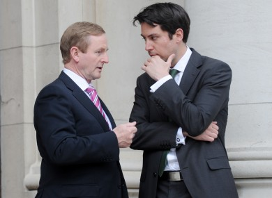 Eoghan Murphy with Taoiseach Enda Kenny (File photo)