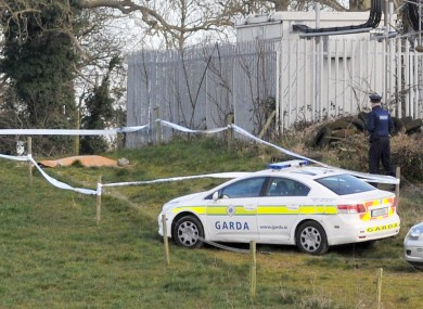 Gardaí at the scene in Balheary near Swords, Co Dublin.
