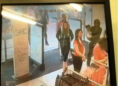 Creepy CCTV image of Beyonce with Blue Ivy heading into Mothercare.
