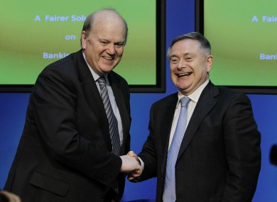 Finance Minister Michael Noonan and Minister for Public Expenditure Brendan Howlin.
