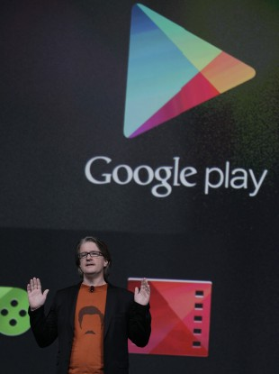 Chris Yerga, engineering director at Google with Google Play at the Google I/O conference in San Francisco last year (file photo).
