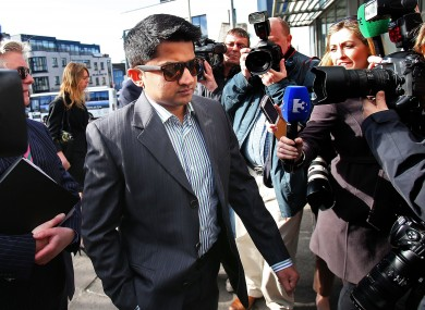 Praveen Hallapanavar arriving at the courthouse this morning.