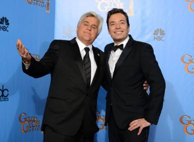 Jay Leno will leave the Tonight show for the second time next year, with Jimmy Fallon (right) taking over.