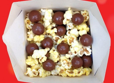 Maltesers? Check. Popcorn? Check. Together? Um...