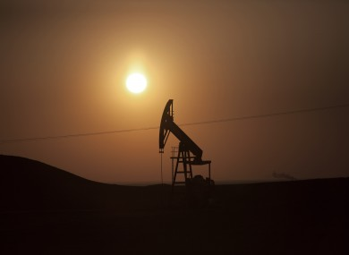 An oil field under control of Kurdish militias near the town of Deriq, in a Kurdish area of Syria,.