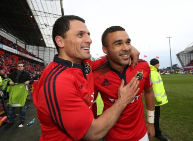Doug Howlett and Simon Zebo are crucial for Munster's cup chances.