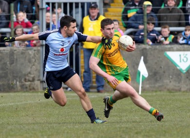 O'Brien and McBrearty during the game in question.