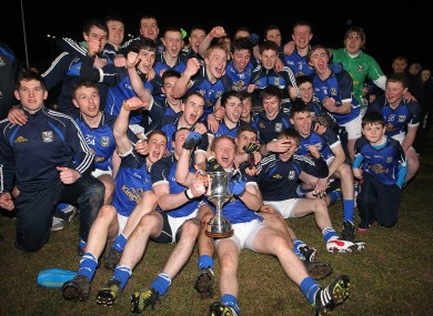 Cavan celebrate winning the Ulster U21 title.