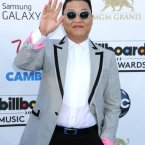 Psy looked like Psy. He's really committed to wearing those sunglasses, isn't he?  Tammie Arroyo/AFF/EMPICS Entertainment