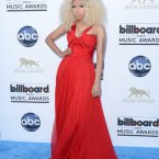 Nicki Minaj knows that bigger is better when it comes to hair.  Other than that the look is a little boring.  Classy like, but who wants that from Nicky Minaj?  Tammie Arroyo/AFF/EMPICS Entertainment