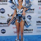 Z Lala may only have 4,148 Twitter followers, but she made quite an impression by covering herself in wrapping paper bows on the blue carpet.  Tammie Arroyo/AFF/EMPICS Entertainment