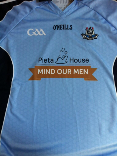 The Dubs will wear this jersey with a suicide awareness logo at Croker