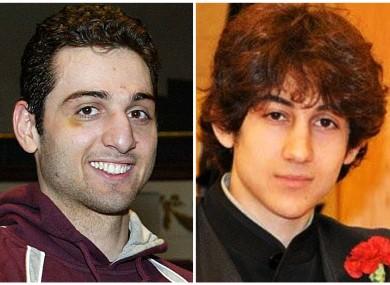 Undated photographs of Tamerlan (left) and Dzhokhar Tsarnaev