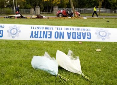 File images of fatal car crash.