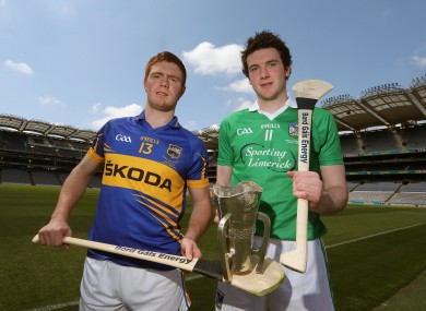 Tipperary's Jason Forde and Limerick's Declan Hannon.