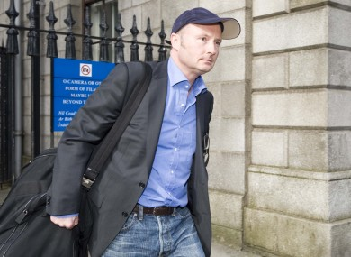 Jim Corr leaving the Four Courts yesterday