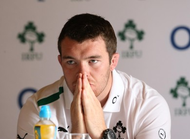 Peter O'Mahony at his first outing as Ireland captain.