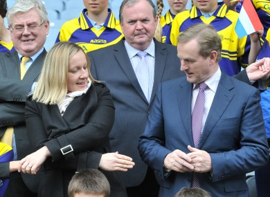 Lucinda Creighton with the Taoiseach on Europe Day last month.