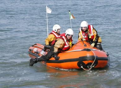 File photo of Irish Coast Guard crew.
