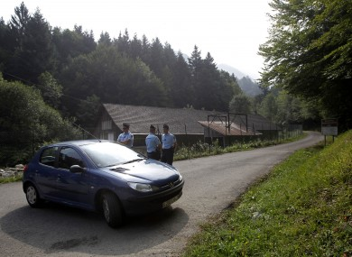 Authorities block access to the site where the shooting occurred on 5 September last year
