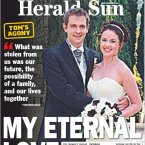 The front page of the Herald Sun newspaper