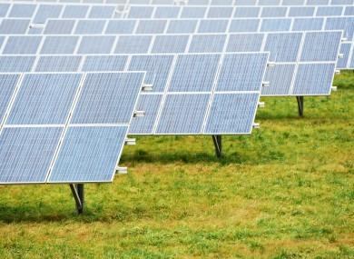 File image of photovoltaic solar farms across Europe.