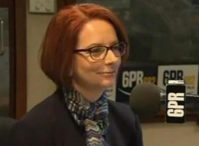 Julia Gillard on 6PR yesterday