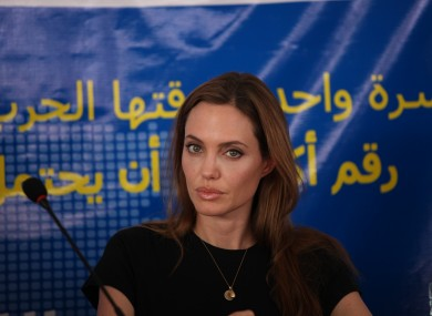 United Nations High Commissioner for Refugees (UNHCR) special envoy, actress Angelina Jolie