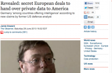 Observer newspaper pulls front page story about the NSA