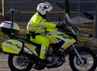 File image of PSNI officer on a motorcycle.