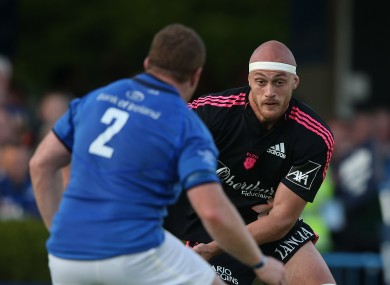 Scott Lavalla in action for Stade Francais against Leinster.