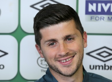 Shane Long, pictured at today's press conference.