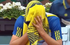 Russian tennis player completely loses it at Roland Garros
