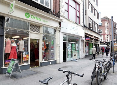 The Oxfam shop on South King Street, just off Grafton St