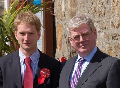 Stephen Fitzpatrick canvassing with Eamon Gilmore in 2009