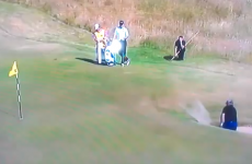Watch in horror as Darren Clarke spends more time in the sand than David Hasselhoff*