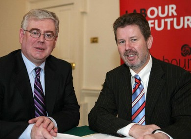 Denis Landy (right) with Labour leader Eamon Gilmore (File photo)
