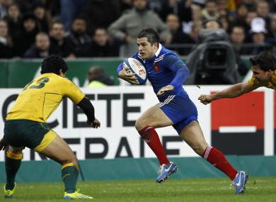 French fullback Brice Dulin in action against Australia.