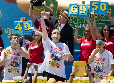 Joey Chestnut, six time winner of the Nathan's Famous Fourth of July International Hot Dog Eating contest.
