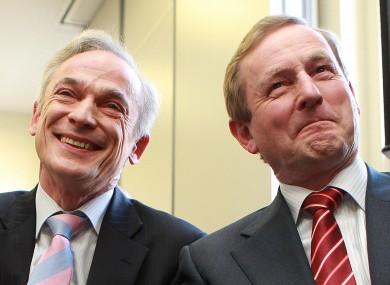 Minister Richard Bruton with Taoiseach Enda Kenny.