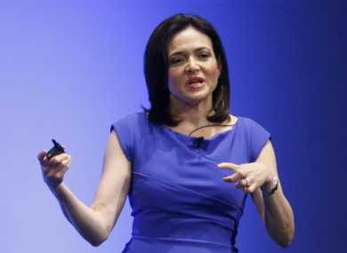 Facebook Chief Operating Officer Sheryl Sandberg delivers a speech during Global Women Leadership Summit in Tokyo on 2 July