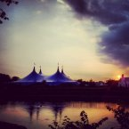 This picture taken by Kevin O'Connor on the banks of the River Corrib shows Galway's Big Top at the Galway Arts Festival.