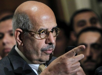 File photo: former director of the U.N.'s nuclear agency and Nobel peace laureate Mohamed ElBaradei.