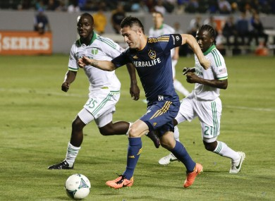 Keane playing for LA Galaxy.