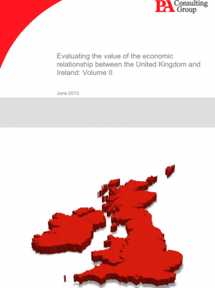 The frontpage of one volume of the report