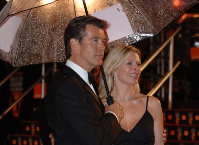 Pierce pictured with Charlotte at the 2006 BAFTAS